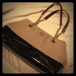 **KATE SPADE Black & Tan Patent Leather Purse**